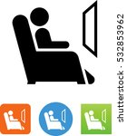 reclining chair icon | Shutterstock .eps vector #532853962