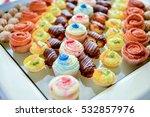 cake platter diversified... | Shutterstock . vector #532857976