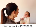 two weeks old smiling little... | Shutterstock . vector #532858222