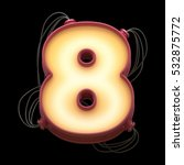 number for light board and... | Shutterstock . vector #532875772