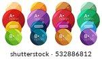 set of round option diagram... | Shutterstock .eps vector #532886812