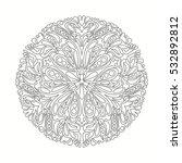 black and white mandala. ethnic ... | Shutterstock .eps vector #532892812
