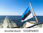estonian flag on a ship in a... | Shutterstock . vector #532896805