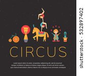 circus collection with carnival ... | Shutterstock .eps vector #532897402