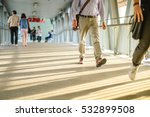 people walking to work by pass... | Shutterstock . vector #532899508