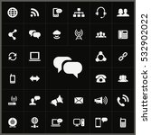 chat icon. communication icons... | Shutterstock . vector #532902022