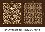 laser cutting set. woodcut... | Shutterstock .eps vector #532907545