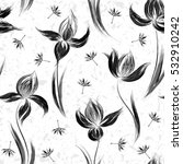 floral seamless pattern of... | Shutterstock .eps vector #532910242