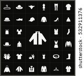 clothes icons universal set for ... | Shutterstock . vector #532911376