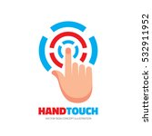 touch screen finger   vector... | Shutterstock .eps vector #532911952