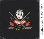 hockey logo  mascot for sport...   Shutterstock .eps vector #532915912