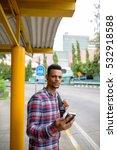 young handsome african man...   Shutterstock . vector #532918588