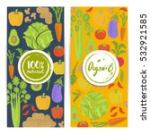 organic food vertical flyers... | Shutterstock .eps vector #532921585