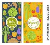 organic food vertical flyers...   Shutterstock .eps vector #532921585