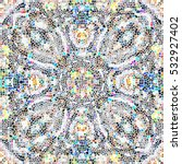 mosaic colorful artistic...   Shutterstock . vector #532927402