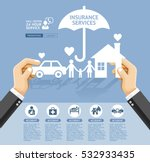 insurance policy services... | Shutterstock .eps vector #532933435