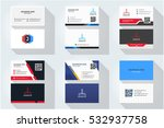 corporate business card set... | Shutterstock .eps vector #532937758