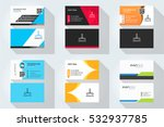 corporate business card set... | Shutterstock .eps vector #532937785