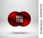 red merry christmas  xmas...   Shutterstock .eps vector #532940722