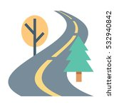 road vector icon | Shutterstock .eps vector #532940842