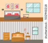 interior of house. bedroom... | Shutterstock .eps vector #532943218