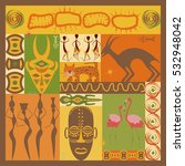 conceptual ethnic illustration... | Shutterstock .eps vector #532948042