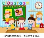 many children study in... | Shutterstock .eps vector #532951468