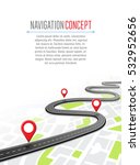 navigation concept with pin... | Shutterstock .eps vector #532952656