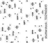 scandinavian seamless pattern... | Shutterstock .eps vector #532960645