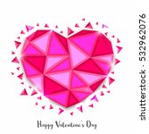 creative abstract heart in low... | Shutterstock .eps vector #532962076