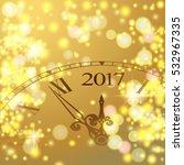 2017 new year gold shining... | Shutterstock .eps vector #532967335