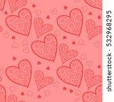 seamless valentine pattern.... | Shutterstock .eps vector #532968295
