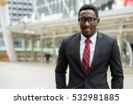 young happy african businessman ... | Shutterstock . vector #532981885