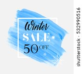 winter sale 50  off sign over... | Shutterstock .eps vector #532990516