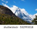 famous mountain matterhorn ... | Shutterstock . vector #532993318