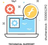 technical support vector icon | Shutterstock .eps vector #533001292