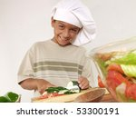 Little Boy Cooking.