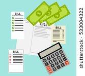 bills  paying bills  payment... | Shutterstock .eps vector #533004322