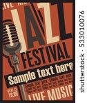 retro poster for the jazz... | Shutterstock .eps vector #533010076