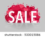 sale banner design with hearts... | Shutterstock .eps vector #533015086