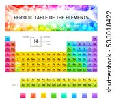 periodic table of the chemical... | Shutterstock .eps vector #533018422