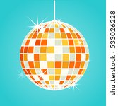 disco ball vector | Shutterstock .eps vector #533026228