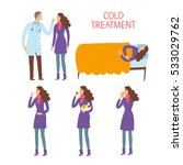 cold and flu treatment process... | Shutterstock .eps vector #533029762