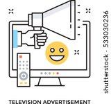 television advertisement vector ... | Shutterstock .eps vector #533030236