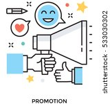 promotion vector icon | Shutterstock .eps vector #533030302