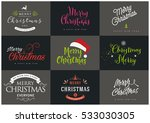 merry christmas. happy new year ... | Shutterstock .eps vector #533030305