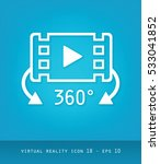 virtual reality icons series ...   Shutterstock .eps vector #533041852