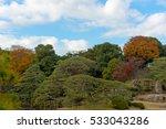autumn of rikugien in japan | Shutterstock . vector #533043286