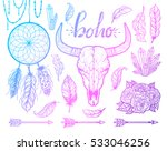 Set Of Boho Elements. Bull...
