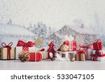 christmas small gift boxes and... | Shutterstock . vector #533047105
